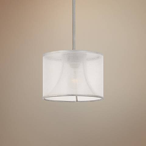 "Fredrick Ramond Mime 10"" Wide Brushed Nickel Mini Pendant"