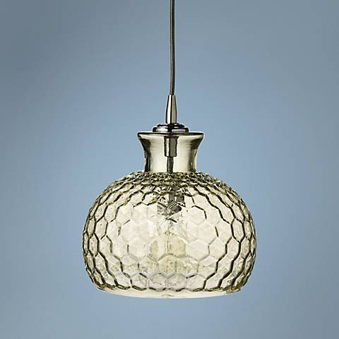 "Clark Collection 10""W Taupe Jamie Young Glass Mini Pendant"