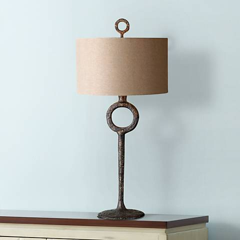 Uttermost Ferro Rust Beige Table Lamp