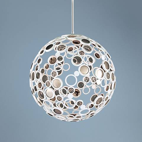 "Corbett Fathom Collection 30"" Wide White LED Pendant"