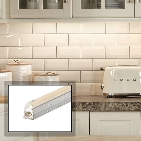 "George Kovacs 10"" Wide Silver LED Under Cabinet Light"