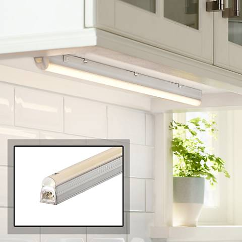 "George Kovacs 21"" Wide Silver LED Under Cabinet Light"