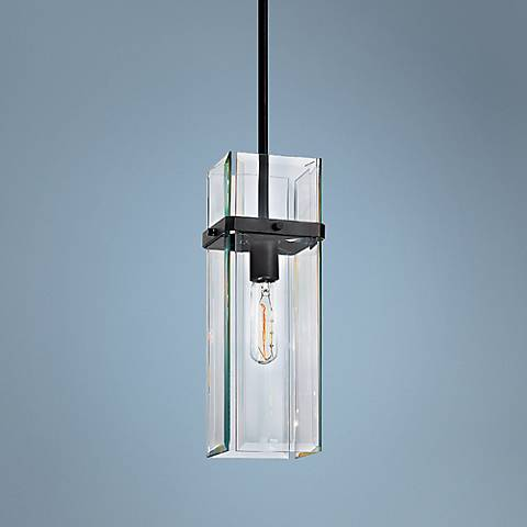 "Sonneman Mercer Street 5 3/4"" Wide Black Mini Pendant"