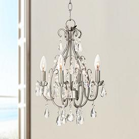 Kathy Ireland Hollis 15 W Crystal Swag Plug In Chandelier