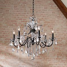 Bronze crystal chandeliers lamps plus beverly 26 wide bronze frame clear crystal chandelier aloadofball Gallery