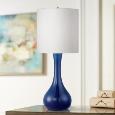 Monaco Blue Glass Table Lamp