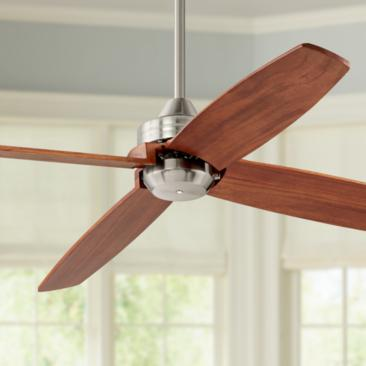 "52"" Casa Vieja Insite™ Brushed Nickel Ceiling Fan"