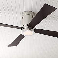 Hugger ceiling fans flush mount fan designs lamps plus 52 casa vieja revue brushed nickel led ceiling fan mozeypictures Gallery