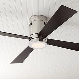 52 Casa Vieja Revue Brushed Nickel Led Ceiling Fan
