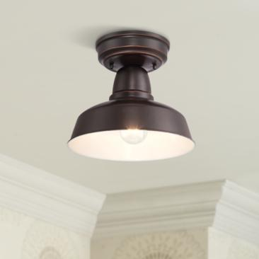"Urban Barn Collection 10 1/4""W Bronze Outdoor Ceiling Light"
