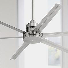 Brushed steel nickel ceiling fans lamps plus 72 mondo brushed nickel ceiling fan aloadofball Choice Image