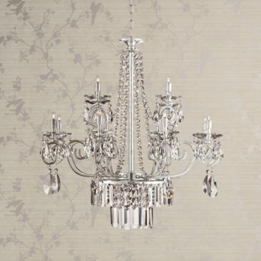 "Nobleton 28"" Wide Clear Crystal Chandelier"