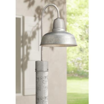 "Urban Barn 15 3/4"" High Galvanized Steel Outdoor Post Light"