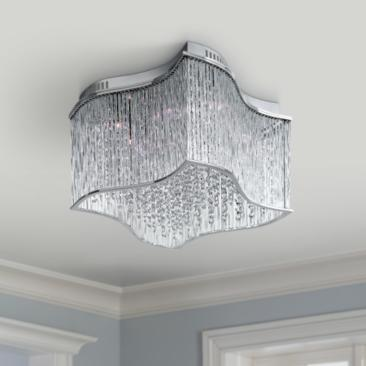 "Maxim Swizzle 19"" Wide Polished Chrome Ceiling Light"