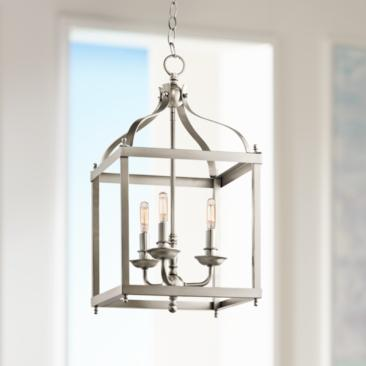 "Kichler Larkin 12"" Wide Brushed Nickel Pendant"