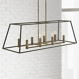 Hinkley Fulton 48 Wide 8 Light Bronze Linear Chandelier