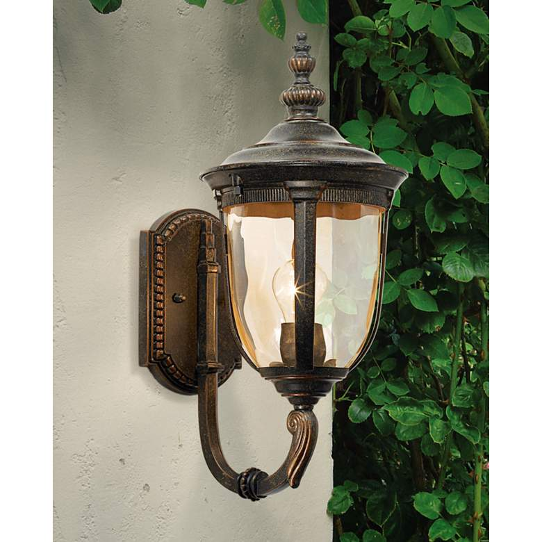 "Bellagio 16 1/2"" High Bronze Upbridge Arm Outdoor Wall Light"