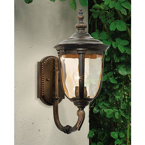 "Bellagio™ 16 1/2"" High Upbridge Arm Outdoor Wall Light"