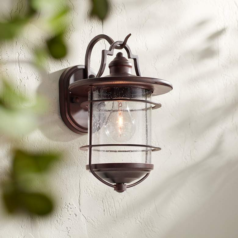 "Casa Mirada 12"" High Vintage Bronze Outdoor Wall Light"