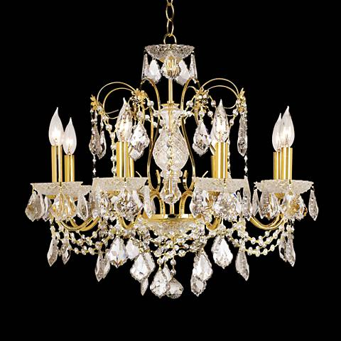 James R. Moder Belle Wave Eight Light Chandelier
