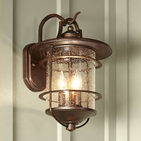 "Casa Mirada 16 1/4"" High Bronze 3-Light Outdoor Wall Light"