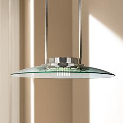"Mach 19"" Wide Halogen Glass Pendant Chandelier"
