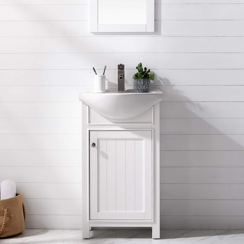 "Marian 20""W 1-Door White Porcelain-Top Single Sink Vanity"