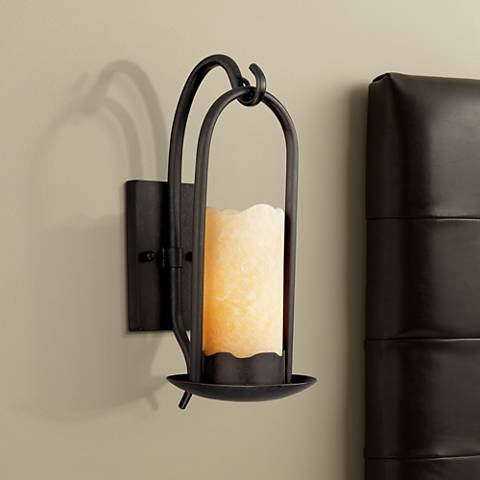 Hanging onyx faux candle wall sconce 51685 lamps plus hanging onyx faux candle wall sconce mozeypictures Images