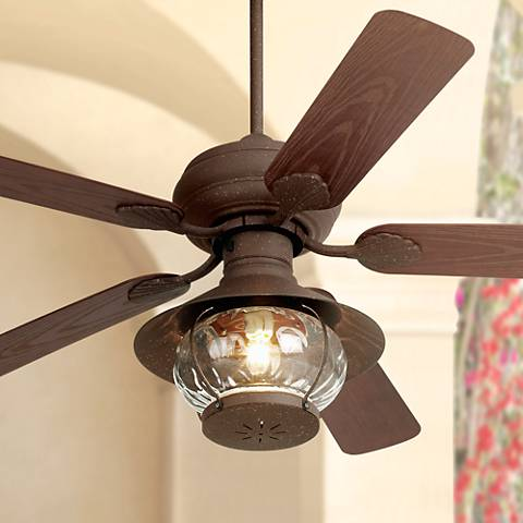 "52"" Casa Vieja Rustic Indoor Outdoor Ceiling Fan"
