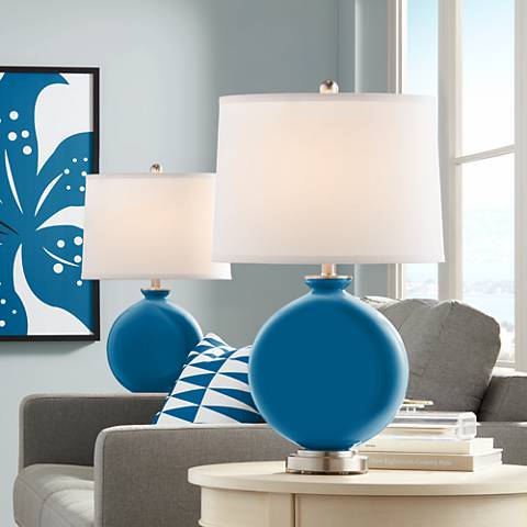 Mykonos Blue Carrie Table Lamp Set of 2