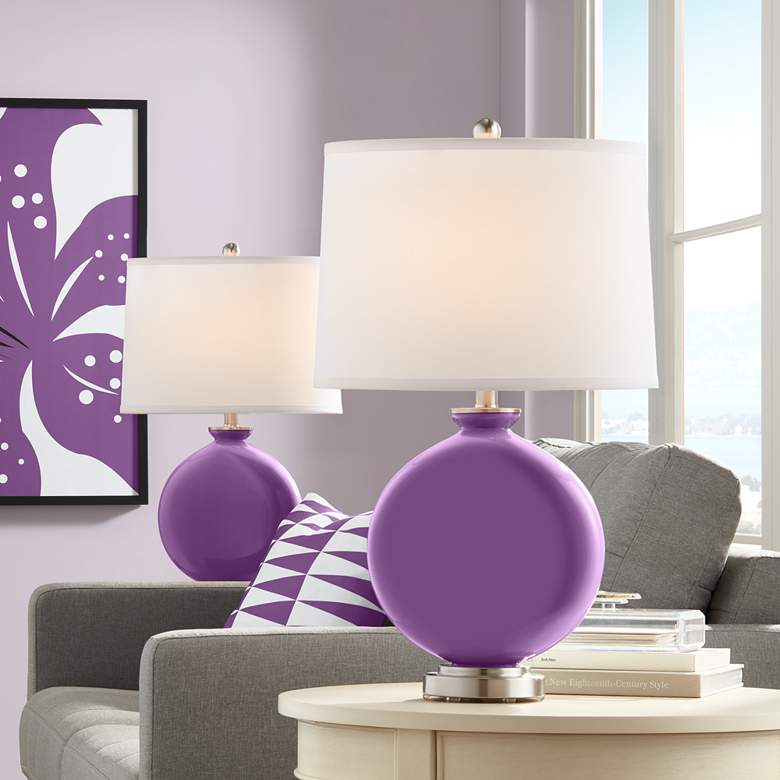 Passionate Purple Carrie Table Lamp Set of 2