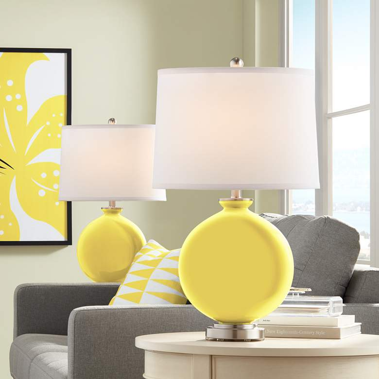 Lemon Twist Carrie Table Lamp Set of 2