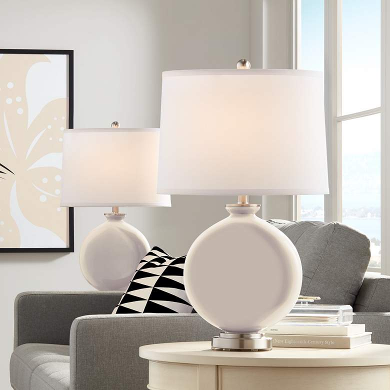 Steamed Milk Carrie Table Lamp Set of 2