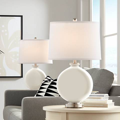 West Highland White Carrie Table Lamp Set of 2