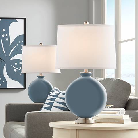 Smoky Blue Carrie Table Lamp Set of 2