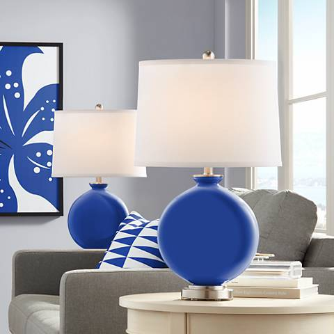 Dazzling Blue Carrie Table Lamp Set of 2