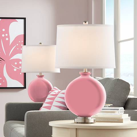 Haute Pink Carrie Table Lamp Set of 2