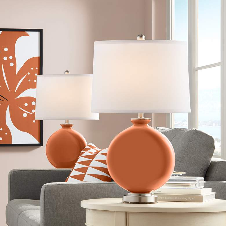 Robust Orange Carrie Table Lamp Set of 2