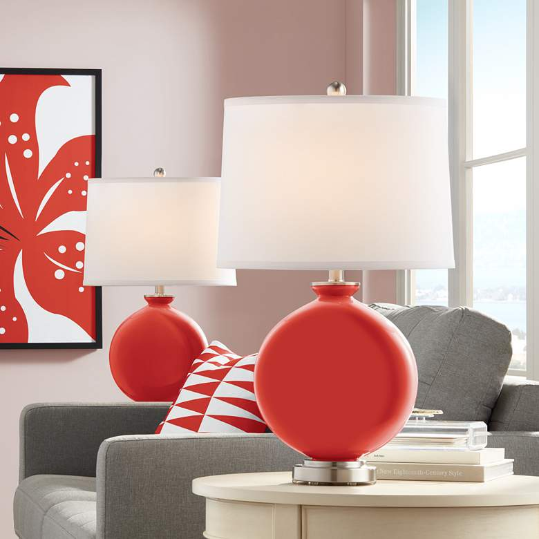 Cherry Tomato Carrie Table Lamp Set of 2