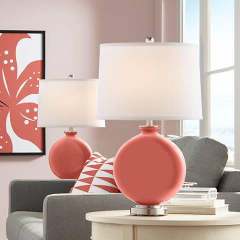 Coral Reef Carrie Table Lamp Set of 2