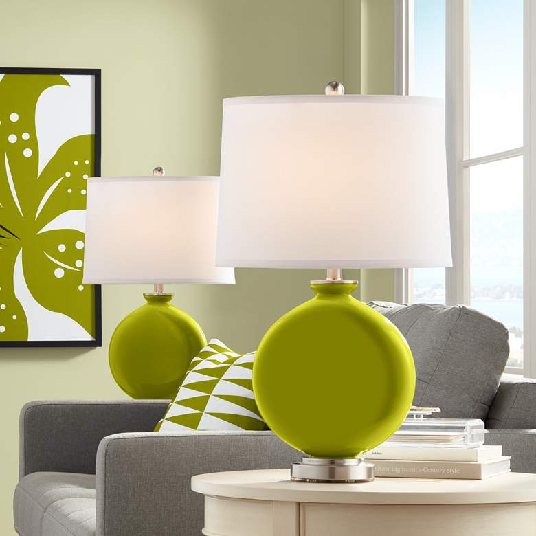 Olive Green Carrie Table Lamp Set of 2