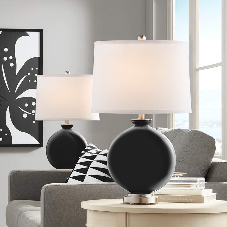 Tricorn Black Carrie Table Lamp Set of 2