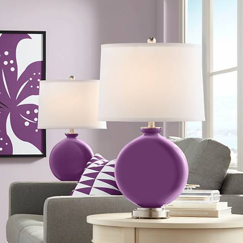 Kimono Violet Carrie Table Lamp Set of 2