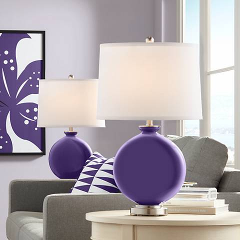 Izmir Purple Carrie Table Lamp Set of 2