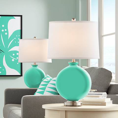 Turquoise Carrie Table Lamp Set of 2