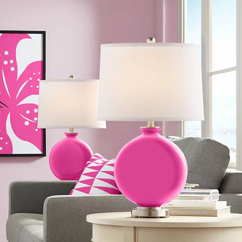 Blossom Pink Carrie Table Lamp Set of 2
