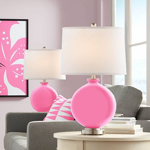 Pale Pink Carrie Table Lamp Set of 2
