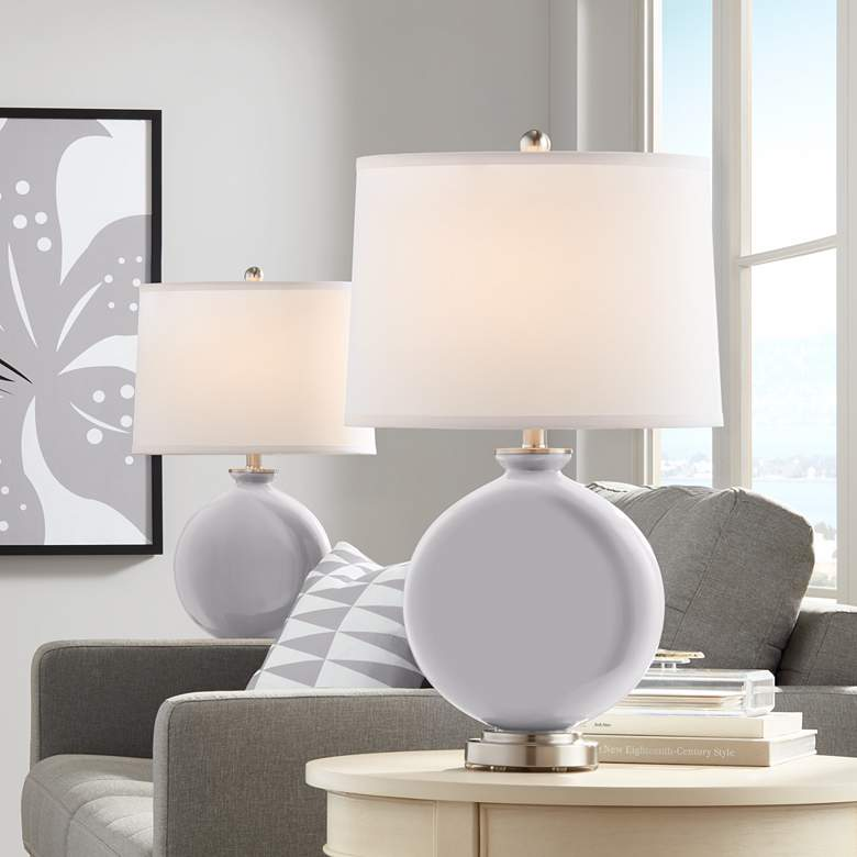 Swanky Gray Carrie Table Lamp Set of 2
