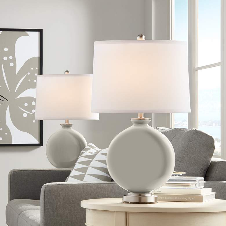 Requisite Gray Carrie Table Lamp Set of 2