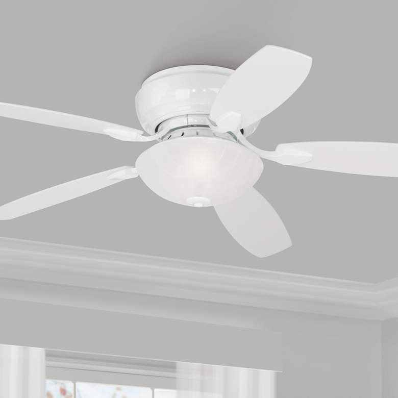 "52"" Casa Habitat White Hugger LED Ceiling Fan"